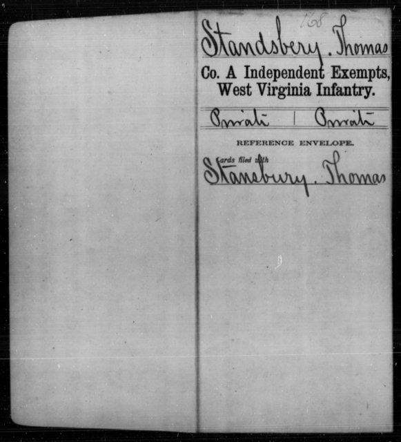 Standsbery, Thomas - Age [Blank], Year: [Blank] - Independent Company A, Infantry AND Independent Company B, Infantry AND Unassigned Men, M-S - West Virginia