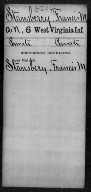 Stansberry, Francis M - Age [Blank], Year: [Blank] - Sixth Infantry - West Virginia