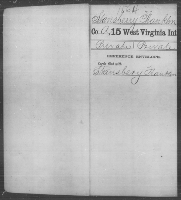 Stansberry, Franklin - Age [Blank], Year: [Blank] - Fifteenth Infantry - West Virginia