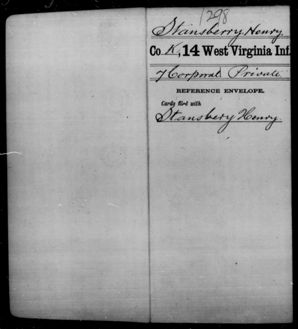 Stansberry, Henry - Age [Blank], Year: [Blank] - Fourteenth Infantry, C-Z - West Virginia