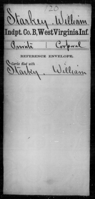 Starkey, William - Age [Blank], Year: [Blank] - Independent Company A, Infantry AND Independent Company B, Infantry AND Unassigned Men, M-S - West Virginia