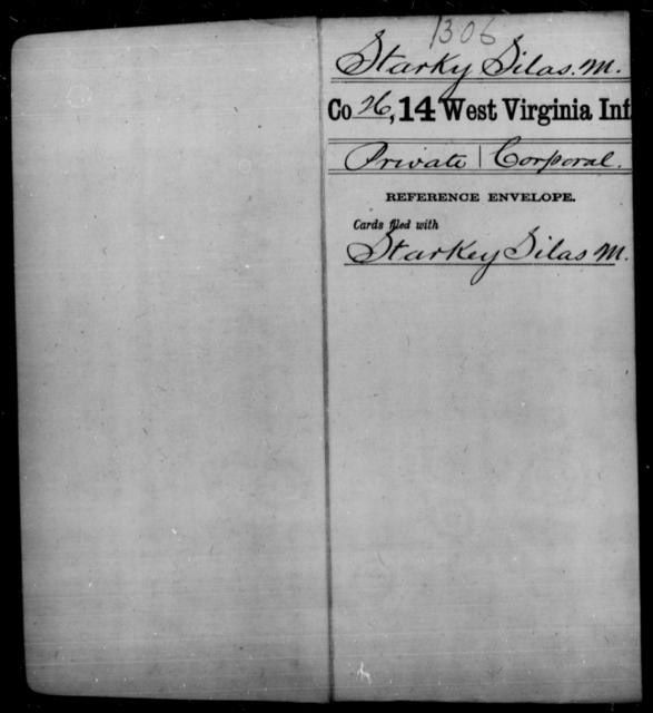 Starky, Silas M - Age [Blank], Year: [Blank] - Fourteenth Infantry, C-Z - West Virginia