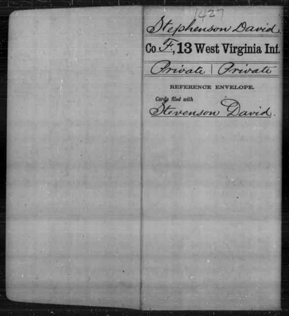 Stephenson, David - Age [Blank], Year: [Blank] - Thirteenth Infantry, A-W - West Virginia