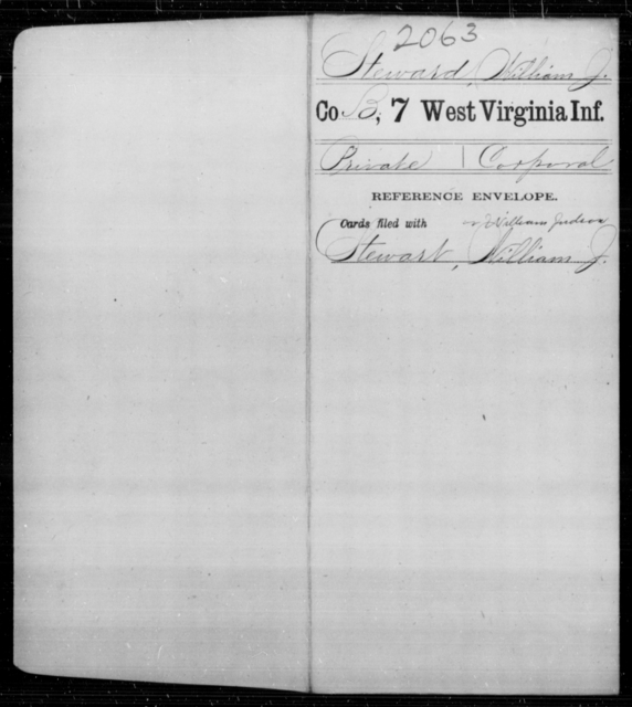 Steward, William J - Age [Blank], Year: [Blank] - Seventh Infantry - West Virginia