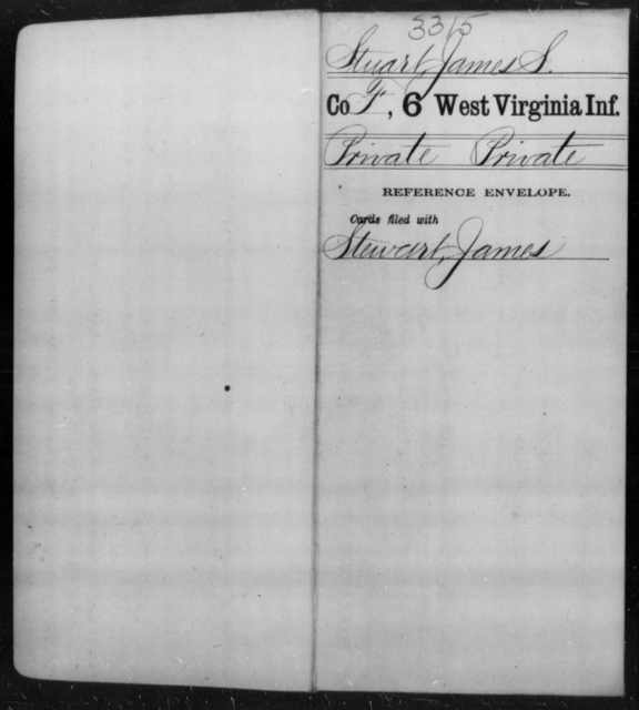Stuart, James S - Age [Blank], Year: [Blank] - Sixth Infantry - West Virginia