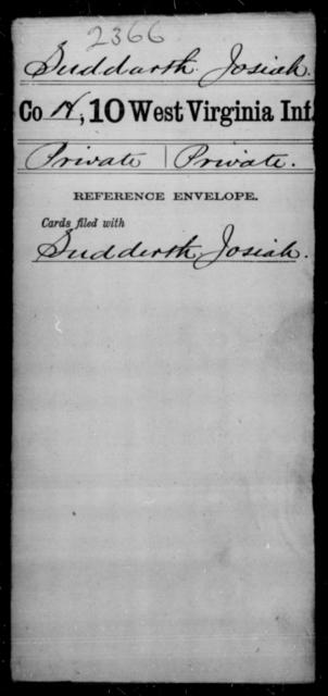 Suddarth, Josiah - Age [Blank], Year: [Blank] - Tenth Infantry - West Virginia