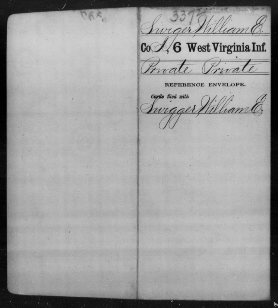 Swiger, William E - Age [Blank], Year: [Blank] - Sixth Infantry - West Virginia