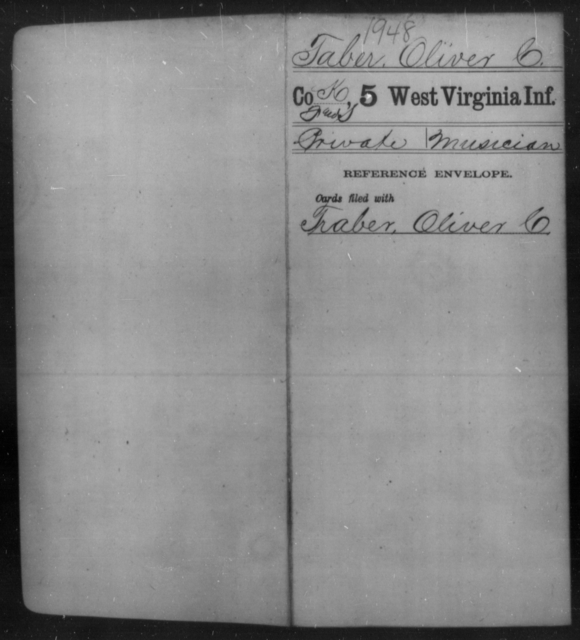 Taber, Oliver C - Age [Blank], Year: [Blank] - Fifth Infantry - West Virginia