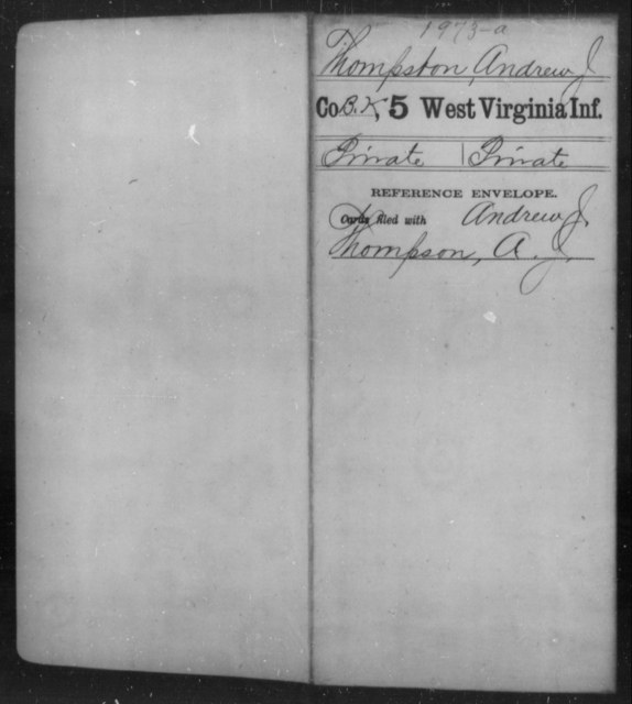 Thompston, Andrew J - Age [Blank], Year: [Blank] - Fifth Infantry - West Virginia