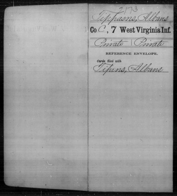Tippasns, Albans - Age [Blank], Year: [Blank] - Seventh Infantry - West Virginia