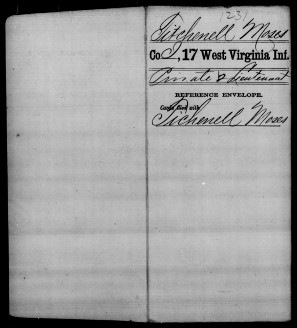 Titchenell, Moses - Age [Blank], Year: [Blank] - Seventeenth Infantry - West Virginia