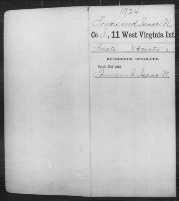 Tounsend, Isaac N - Age [Blank], Year: [Blank] - Eleventh Infantry - West Virginia