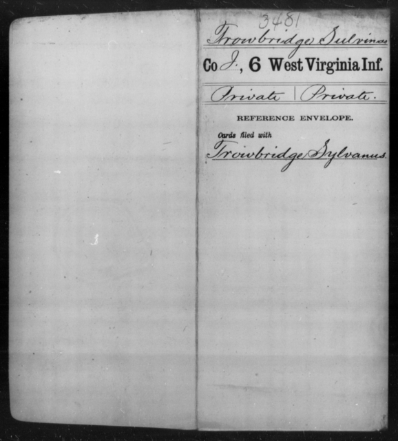 Trowbridge, Sulvinas - Age [Blank], Year: [Blank] - Sixth Infantry - West Virginia