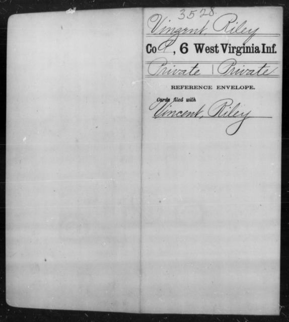 Vinzent, Riley - Age [Blank], Year: [Blank] - Sixth Infantry - West Virginia