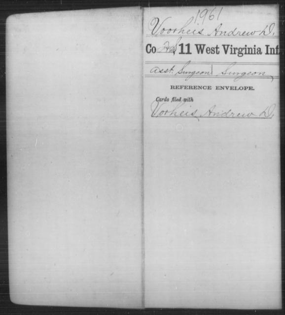 Voorheis, Andrew D - Age [Blank], Year: [Blank] - Eleventh Infantry - West Virginia