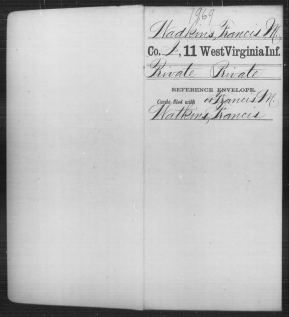 Wadkins, Francis M - Age [Blank], Year: [Blank] - Eleventh Infantry - West Virginia