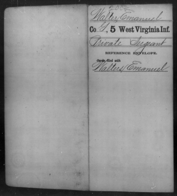 Waller, Emanuel - Age [Blank], Year: [Blank] - Fifth Infantry - West Virginia