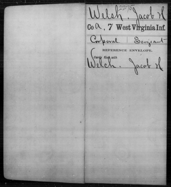 Welsh, Jacob H - Age [Blank], Year: [Blank] - Seventh Infantry - West Virginia