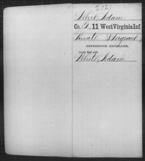 Whit, Adam - Age [Blank], Year: [Blank] - Eleventh Infantry - West Virginia