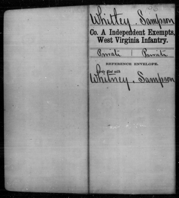 Whitley, Sampson - Age [Blank], Year: [Blank] - Independent Company A, Infantry AND Independent Company B, Infantry AND Unassigned Men, M-S - West Virginia