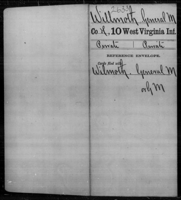 Willmoth, General M - Age [Blank], Year: [Blank] - Tenth Infantry - West Virginia
