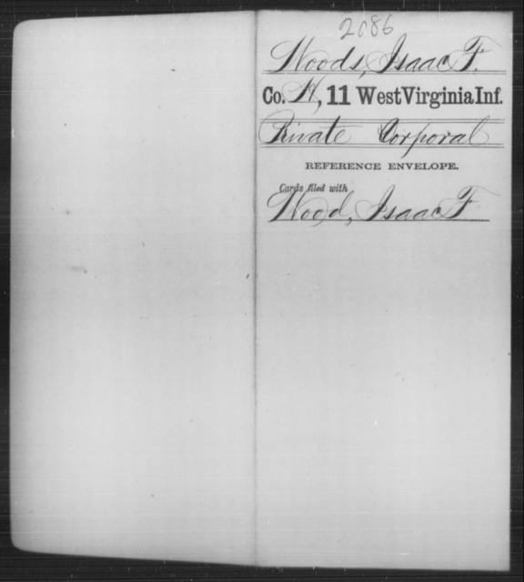 Woods, Isaac F - Age [Blank], Year: [Blank] - Eleventh Infantry - West Virginia
