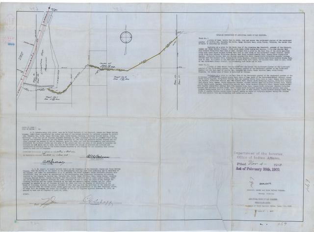 Missouri, Kansas and Texas Railway Company, Choctaw Division, Additional Right Of Way Required, Reyonlds, Oklahoma