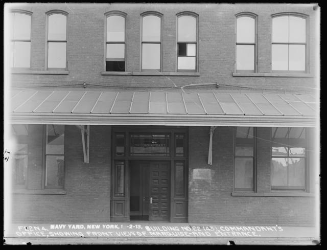 Building Number 22 (43), Commandant's Office, Showing Front View of Marquee and Entrance