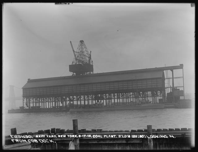 Coal Plant, Building 129 (80), Looking North from Cob Dock