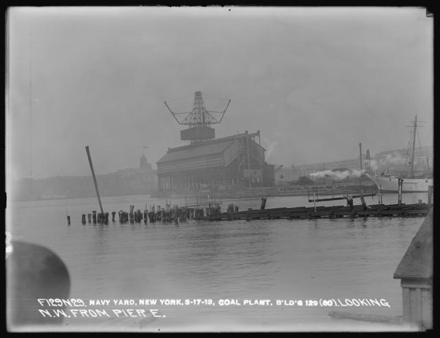 Coal Plant, Building 129 (80), Looking Northwest from Pier E