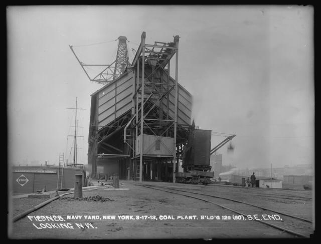 Coal Plant, Building 129 (80), Southeast End, Northeast Side, Looking Northwest