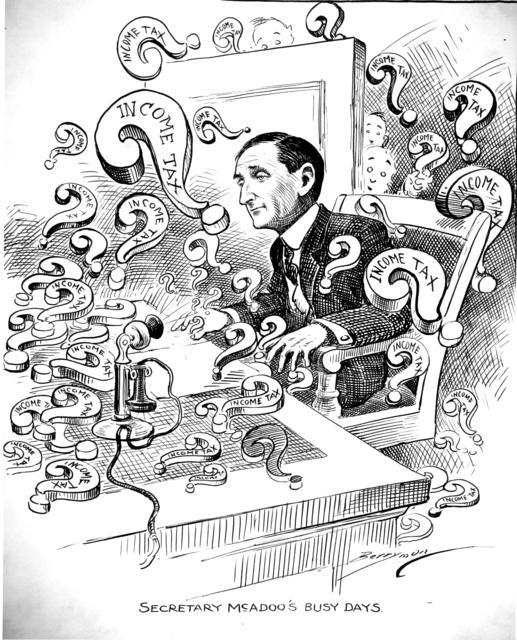 Secretary McAdoo's Busy Days