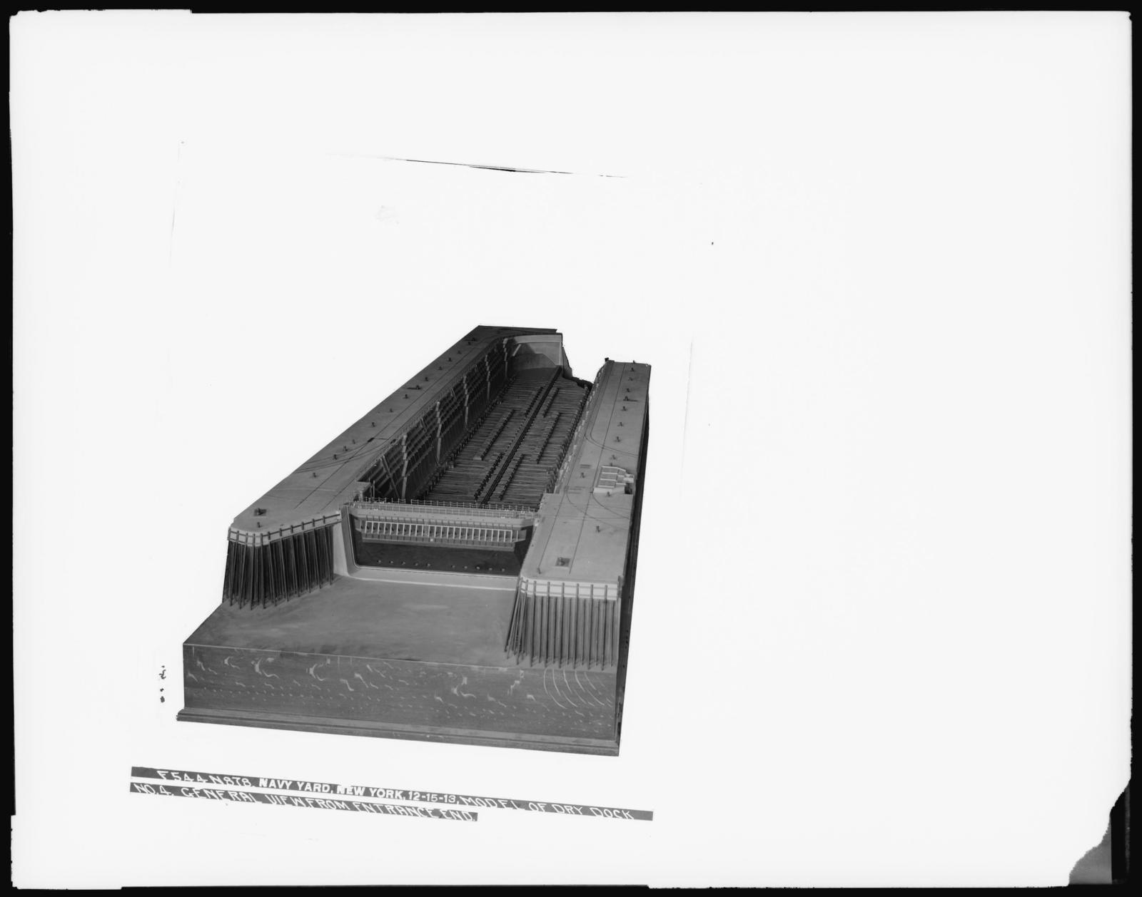 Model or Dry Dock Number 4, General View from Entrance End