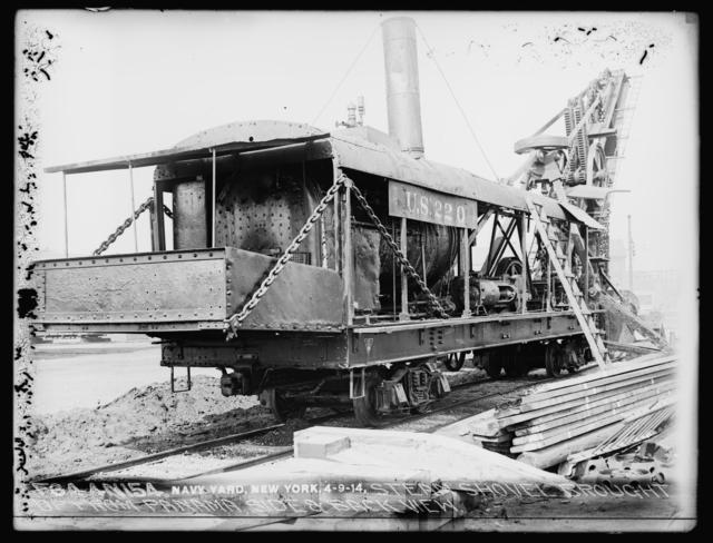 Steam Shovel Brought Up from Panama, Side and Back View