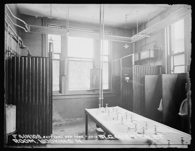 Monthly Progress Report, Building 41 (58), Toilet Room, Looking North