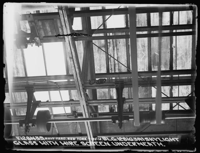 Building 128 (63A) Skylight Glass with Wire Screen Underneath