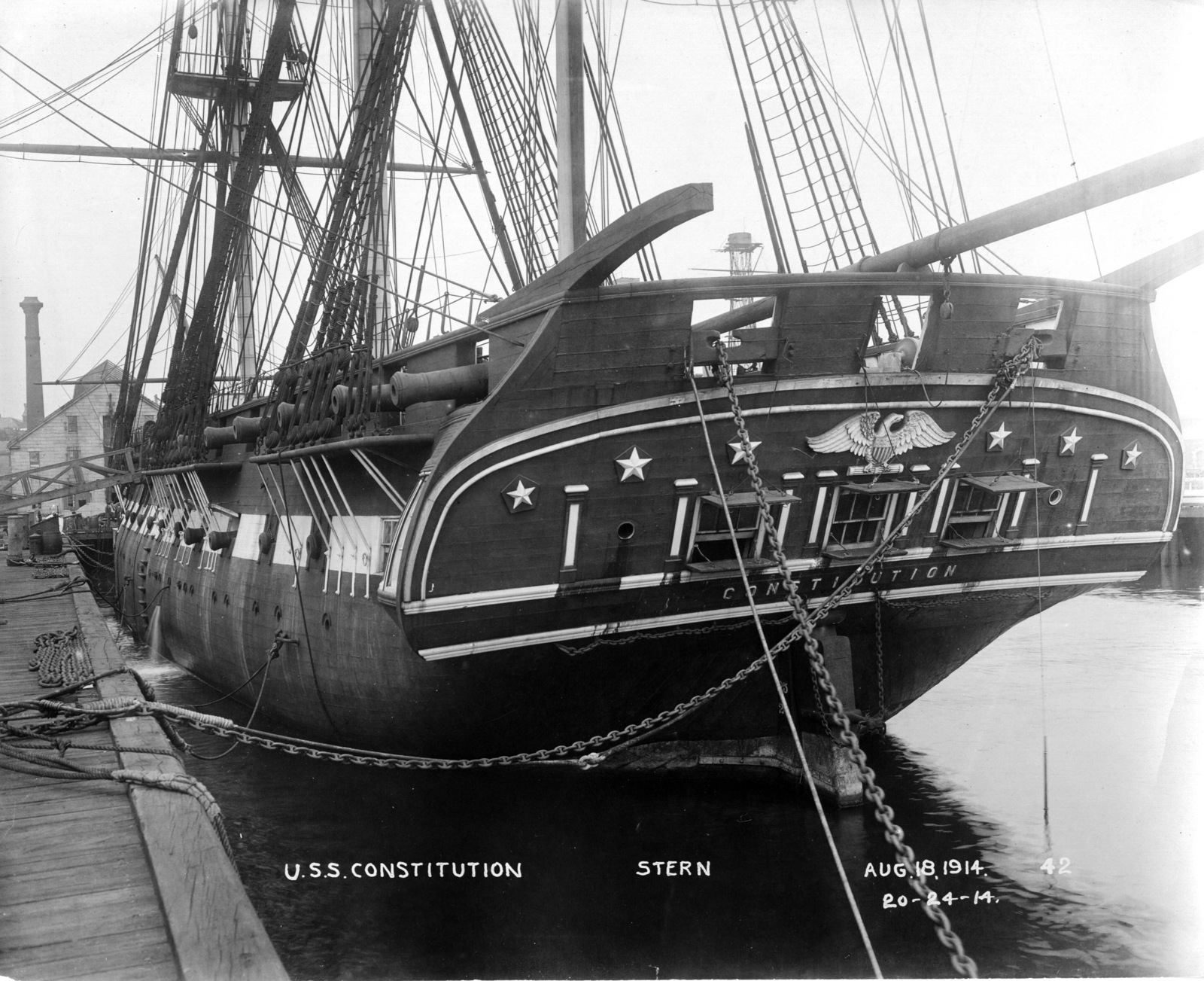 USS Constitution Stern
