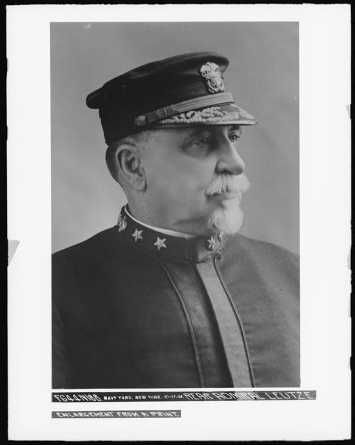 Rear Admiral Leutze. Enlargement from a Print