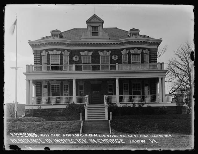 U.S. Naval Magazine, Iona Island, New York, Residence of Inspector In Charge Looking West
