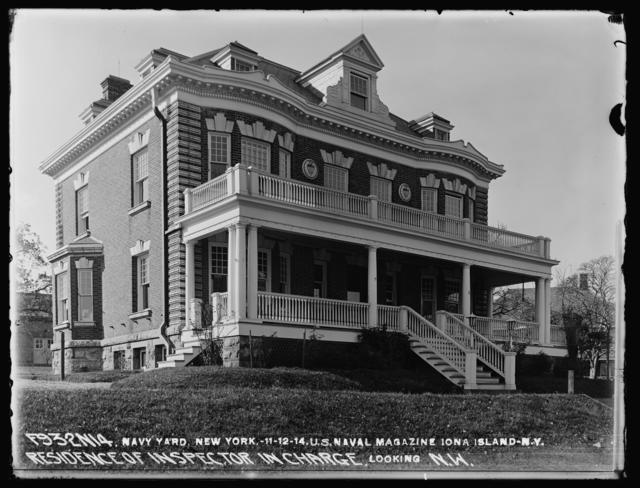 U.S. Naval Magazine, Iona Island, New York, Residence of Inspector In Charge Looking Northwest