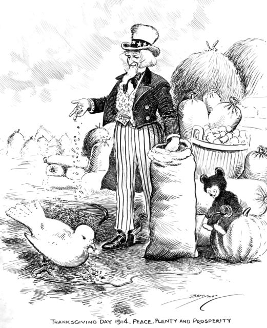 Thanksgiving Day 1914- Peace, Plenty, and Prosperity