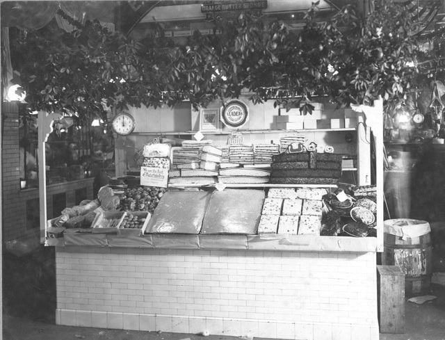 Photograph of a Bakery Stand in Center Market