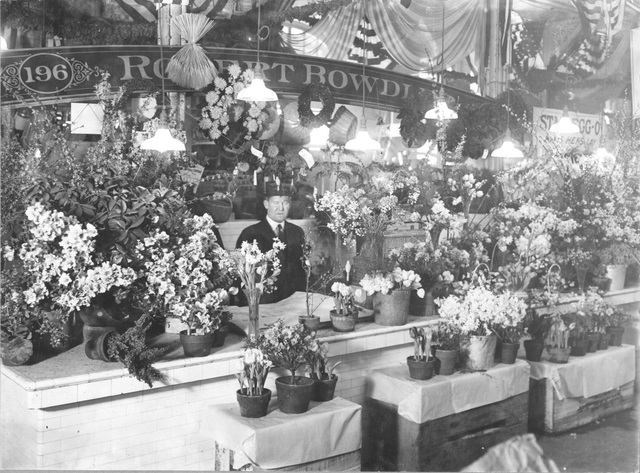 Photograph of an Attractive Flower Stand in Center Market