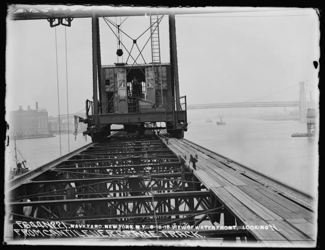 View of Waterfront, Looking North, from Cantilever Crane Track