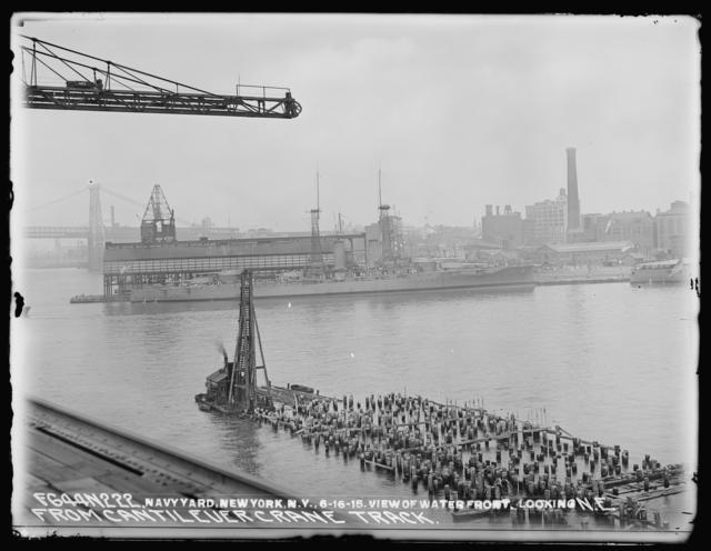 View of Waterfront, Looking Northeast, from Cantilever Crane Track