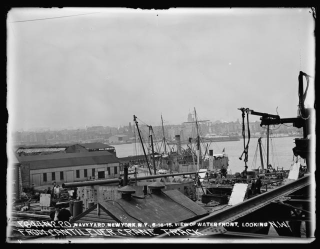 View of Waterfront, Looking Northwest, from Cantilever Crane Track