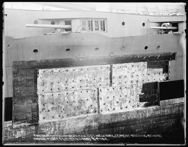 U.S.S. New York, Cement Backing Behind Armor Plates L-C-P-1 and 2 and B-P-1 and 2