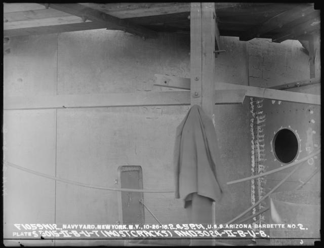 2:45 P.M., U.S.S Arizona Barbette No. 2, Plates 3015-II-B-U-7 (Most Tracks) and 3024-II-B-U-8