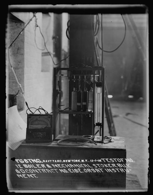 Test of Number 12 Boiler and Mechanical Stoker, Bureau of Yards and Docks, Contract Number 2182, Orsat Instrument