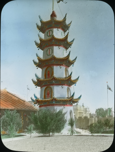 Photograph of a Chinese Pagoda at the Panama-Pacific International Exposition